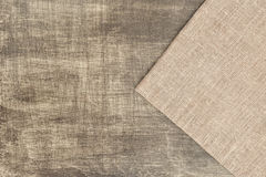 Sackcloth on the table Stock Images