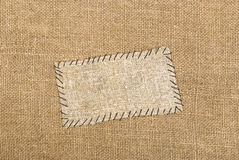 Sackcloth tag Royalty Free Stock Image