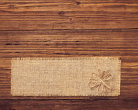 Sackcloth tag royalty free stock images