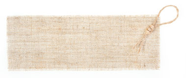 Sackcloth tag with decor over white. See similar in portfolio Royalty Free Stock Image