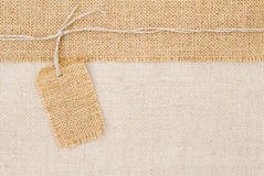 Sackcloth tag pricing Royalty Free Stock Photo