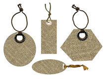 Sackcloth tags Stock Image