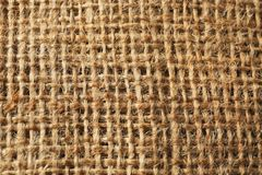 Sackcloth texture as background royalty free stock image