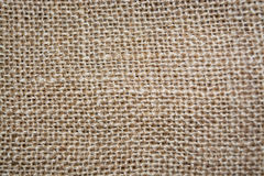 Sackcloth texture for background. Brown textured linen fabric, texture or background Royalty Free Stock Photos