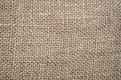 Sackcloth texture for background. Brown textured linen fabric, texture or background Stock Images