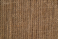 Sackcloth textured background Royalty Free Stock Photos
