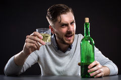 Sacked Manager With Bottle Stock Image