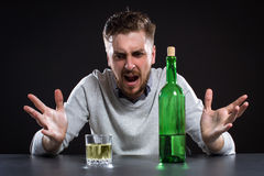 Sacked Manager With Bottle Stock Photography