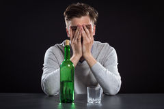 Sacked Manager With Bottle Stock Photos