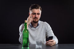 Sacked Manager With Bottle Stock Photo