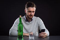 Sacked Manager With Bottle Royalty Free Stock Photo