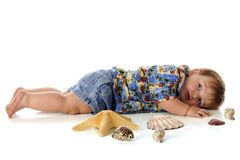 Sacked Out Beach Bum Royalty Free Stock Image