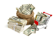 Sackful money Royalty Free Stock Image