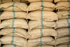 Sackful of rice Stock Image