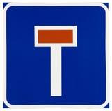 Sackgasse-Verkehrszeichen lizenzfreie stockfotografie