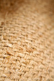 Sacking. Closeup of burlap hessian sacking Stock Photos