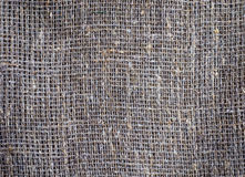 Sacking texture. Old grey burlap texture background Royalty Free Stock Photos