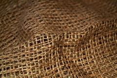 Sacking. Texture, background. Brown background of burlap. fabric texture Royalty Free Stock Image