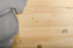 Sacking on wood background Royalty Free Stock Photo