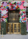 Sacks Fifth Avenue luxury department store Holidays decoration titled `Land of 1000 Delights` in Manhattan Stock Images