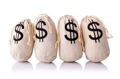 Sacks full of money Royalty Free Stock Photo