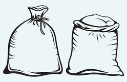 Sacks of grain Stock Image