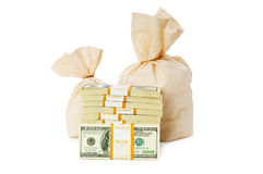 Sacks of money isolated Stock Images