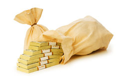 Sacks of money isolated Stock Image