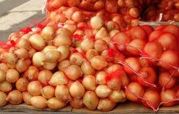 Sacks of Onions Royalty Free Stock Photo