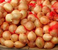 Sacks of Onions Stock Image