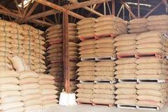 Sacks of rice Stock Photos