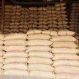 Sacks of rice Royalty Free Stock Photography