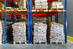 Sacks storage Stock Image