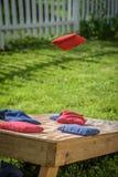 Sackt Spiel im Hinterhof ein Lizenzfreie Stockfotografie