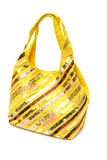 Saco amarelo Fotografia de Stock Royalty Free