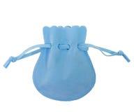 Saco azul Imagem de Stock Royalty Free
