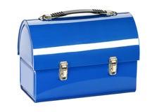 Saco azul do almoço Fotografia de Stock Royalty Free
