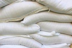 Saco branco da areia do vinil Fotos de Stock