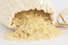 Saco com arroz Foto de Stock Royalty Free