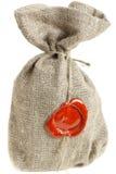 Saco com sealing-wax vermelho Imagens de Stock