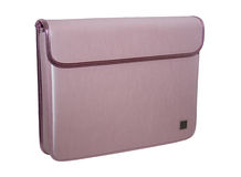 Saco cor-de-rosa do caderno Fotografia de Stock Royalty Free