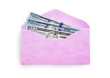 Saco cor-de-rosa do presente do envelope para o dinheiro no ano novo chinês imagem de stock