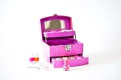 Saco cosmético Fotografia de Stock Royalty Free