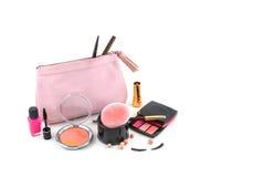 Saco cosmético Imagem de Stock Royalty Free