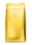 Saco da folha de ouro com válvula de ar Imagem de Stock Royalty Free