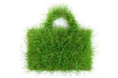 Saco da grama no fundo branco imagem de stock royalty free