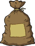 Saco da lona dos desenhos animados ilustração do vetor