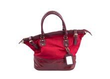 Saco da mulher da cor vermelha Imagem de Stock Royalty Free