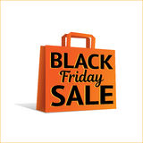 Saco da venda de Black Friday Fotografia de Stock Royalty Free