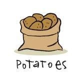 Saco das batatas Imagens de Stock
